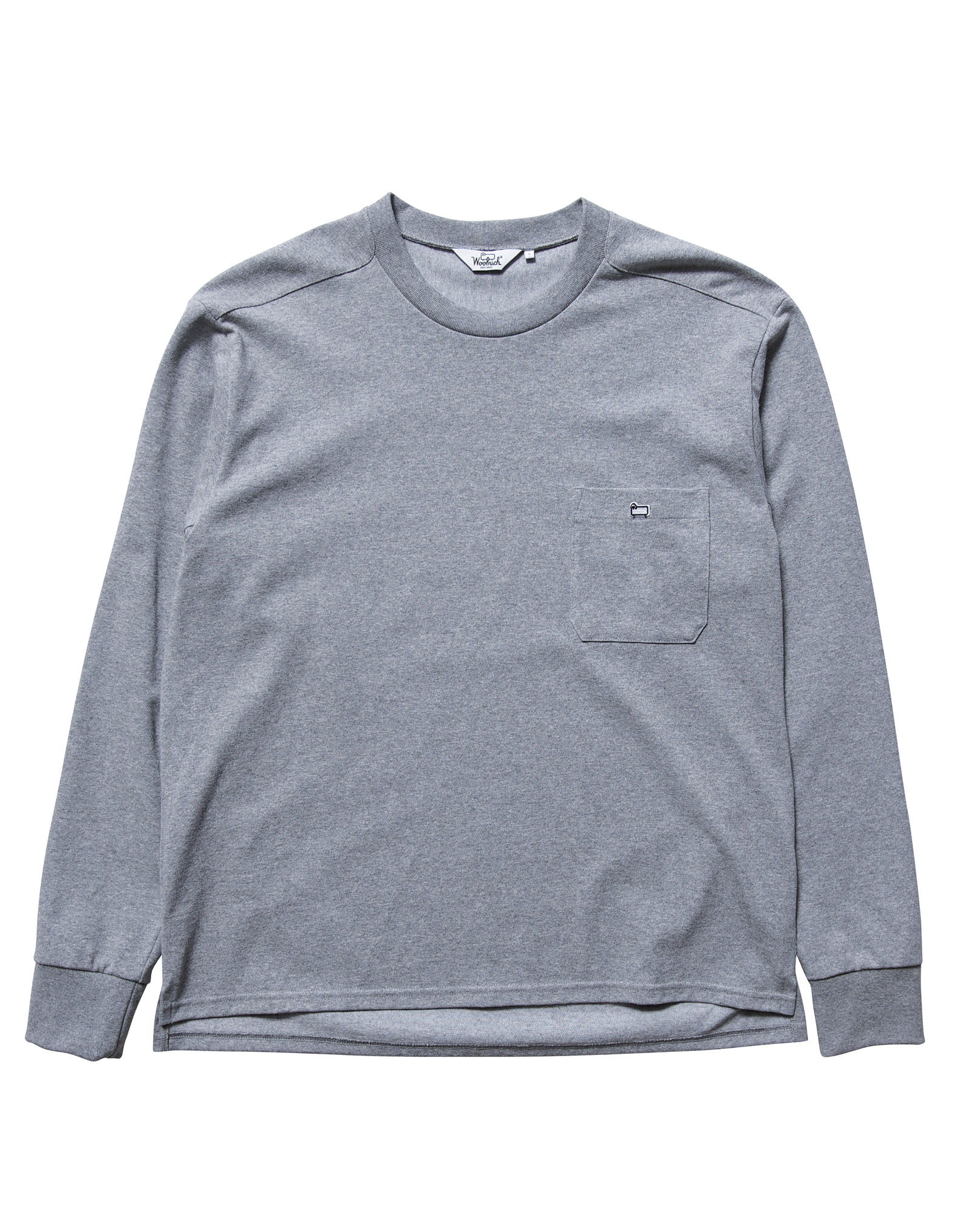 C/N ROUND BODY EMBROIDERY L/S TEE