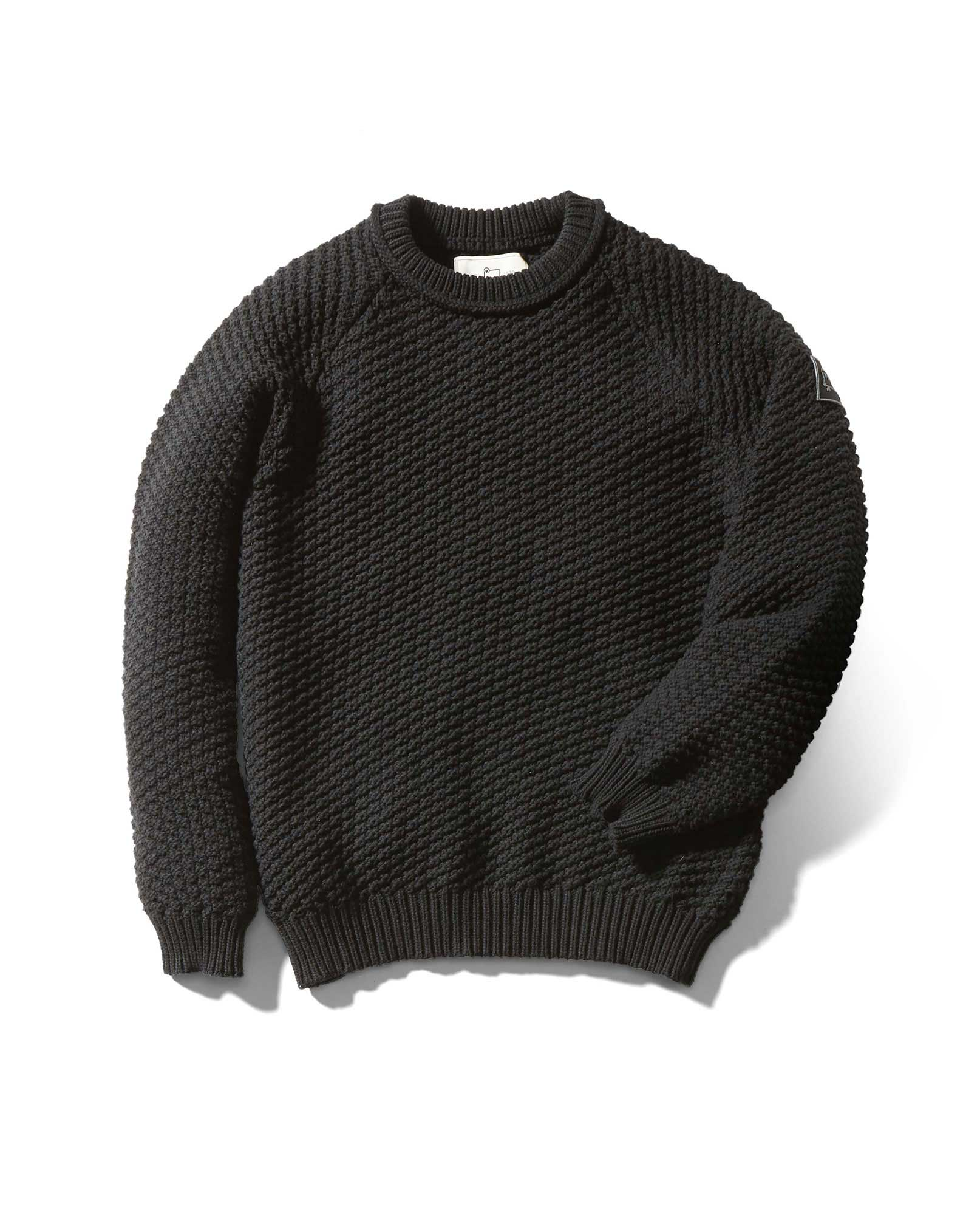 PADDED YARN KNIT CREW