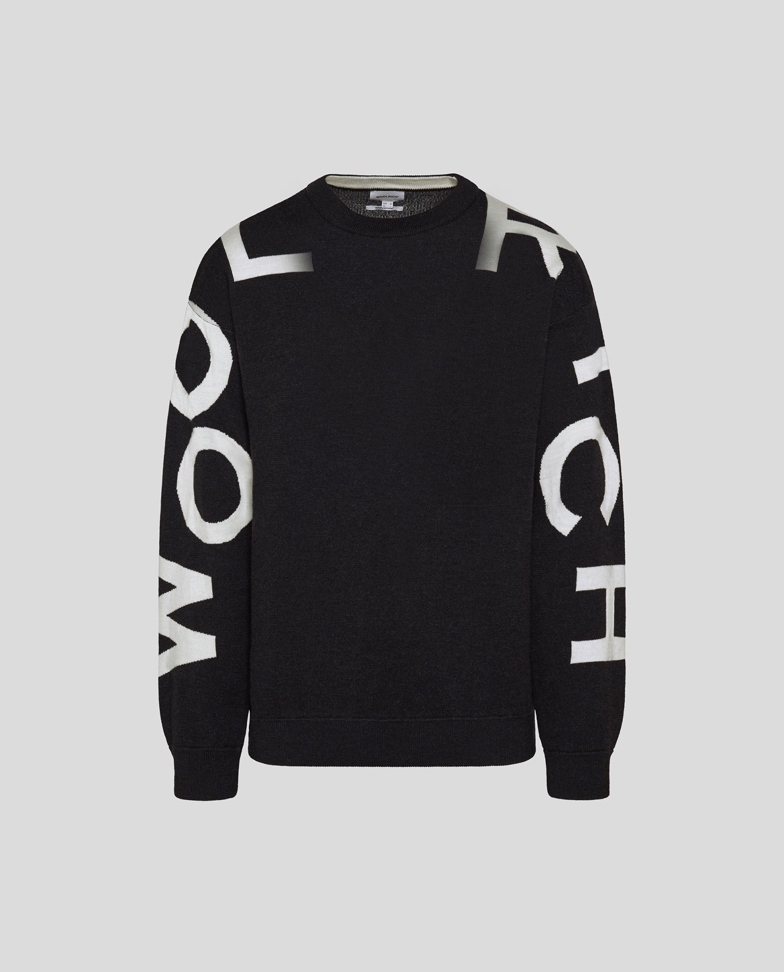 PIQUET WOOL LOGO CREW NECK