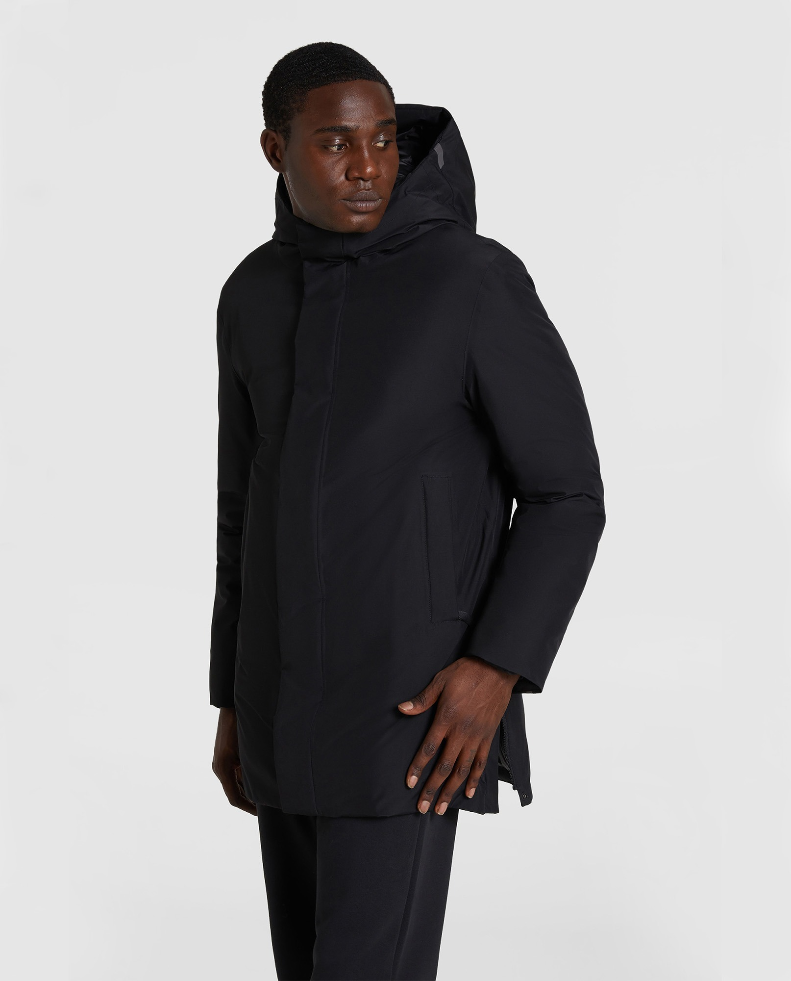 <FW20 NEW IN>HOODED CITY COAT