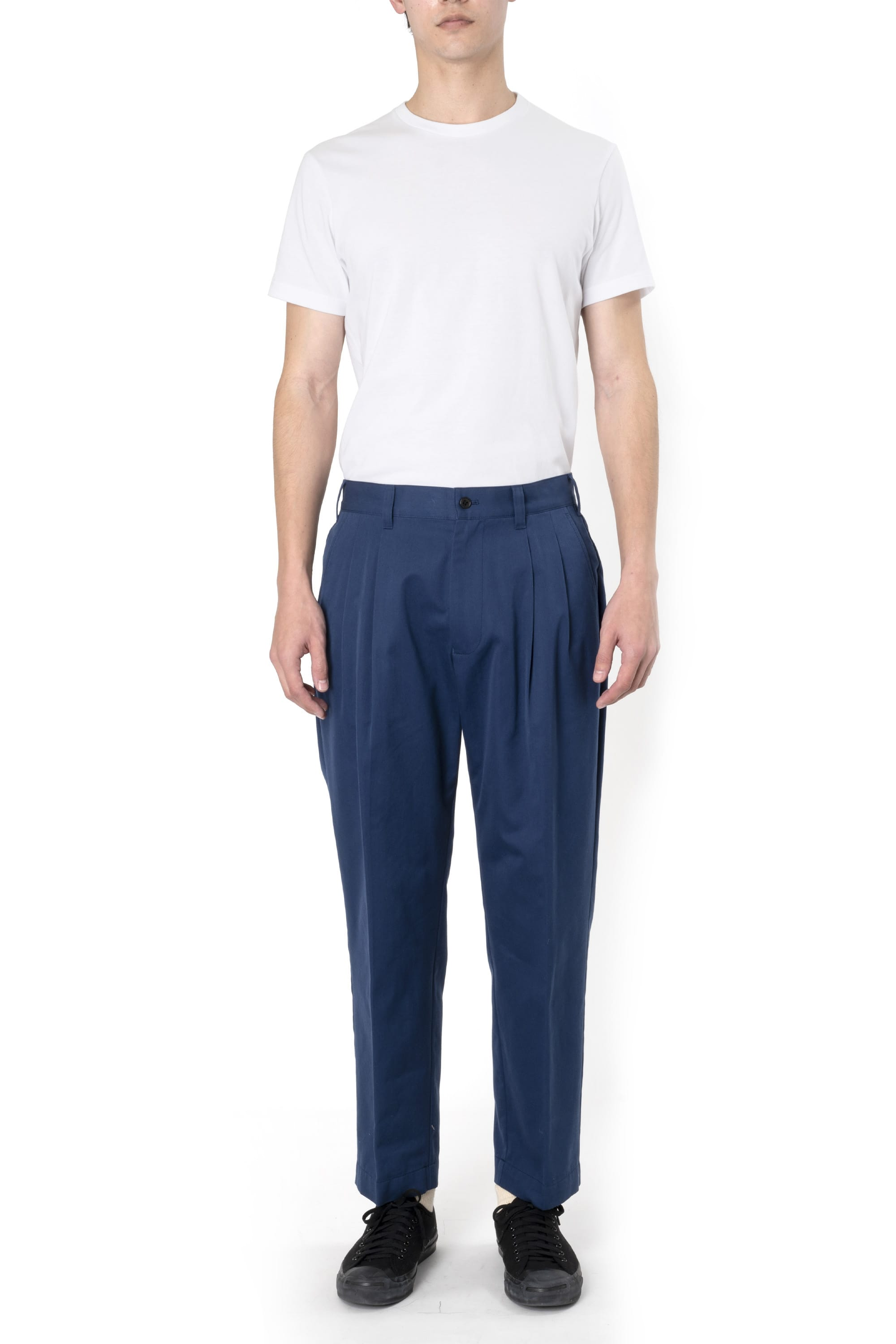 POLYESTER COTTON TWILL SETUP PANTS